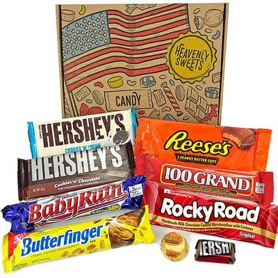 Geschenkkorb USA Süßigkeiten