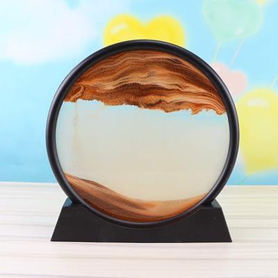 Bewegtes Sandbild Sturmglas