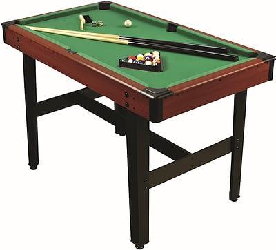 Billardtisch mit 2 Queues und Kugeln