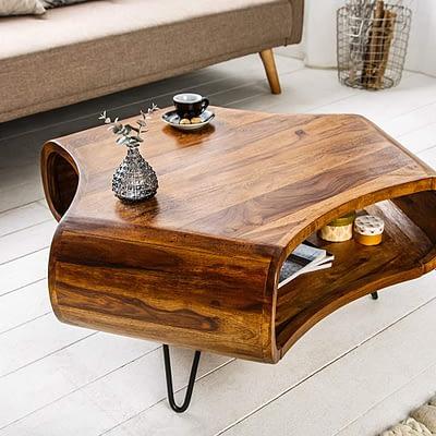 Design Couchtisch aus Massivholz